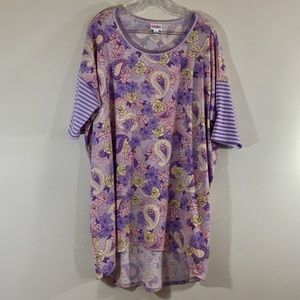 🍀3for15🍀 Lularoe Irma Purple Paisley Top sz XL